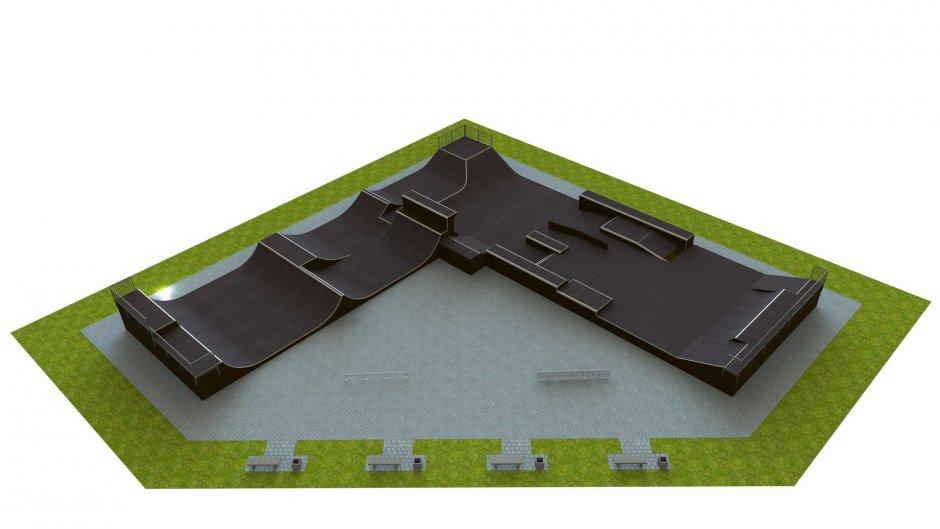 Base monolith skatepark H2.0xW9.0xL30.0x30.0m