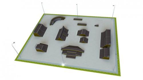 Base skatepark H3.0xW40.0xL50.0m