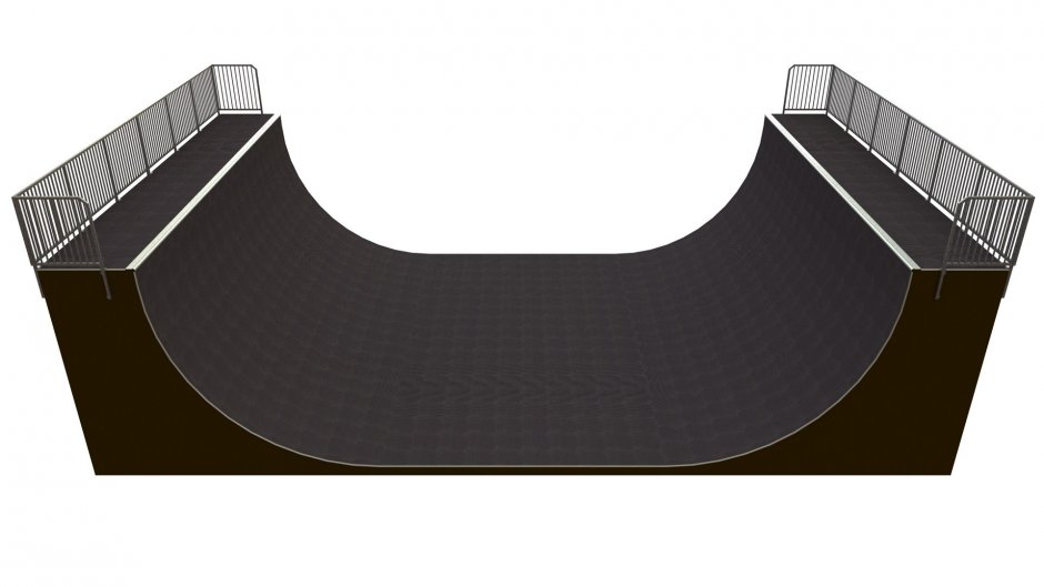 Vert Ramp, H4.0 x W9.0 x L15.00