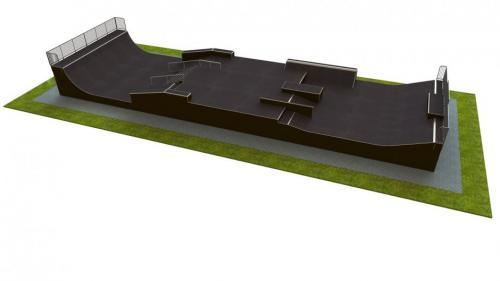 Base monolith skatepark H2.0xW9.0xL30.0m
