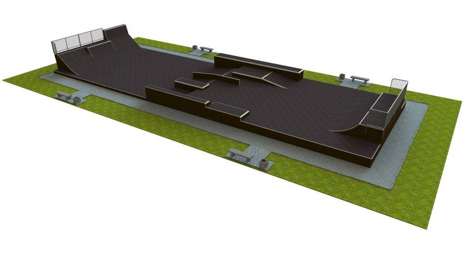Base monolith skatepark H2.5xW10.5xL30.0m