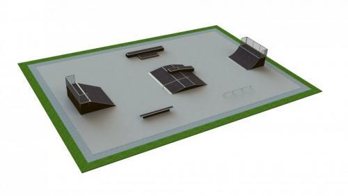 Base skatepark H1.5xW20.0xL30.0m