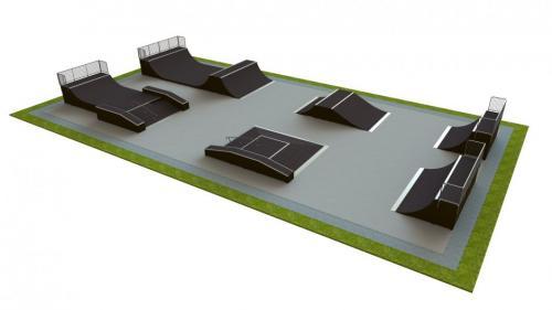 Base skatepark H2.0xW18.0xL35.0m