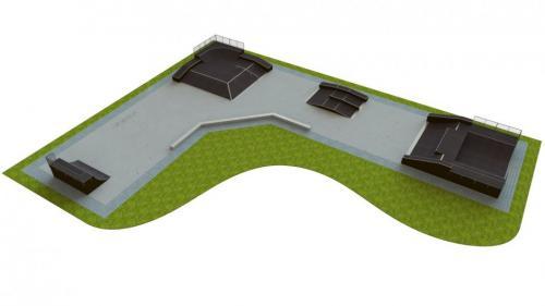 Base skatepark H2.0xW12.0xL37.0x50.0m