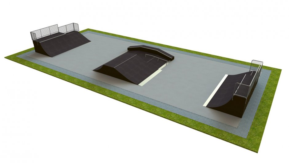 Base skatepark H2.0xW13.0xL26.0m