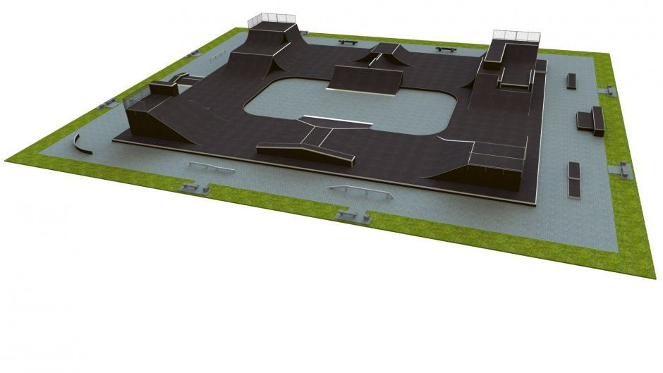 Base skatepark H4.0x45.0xL55.0m