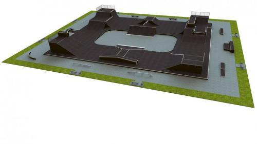 Base skatepark H4.0x45.0xL55.0m