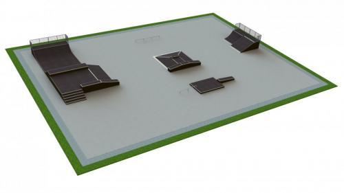 Base skatepark H1.5xW30.0xL40.0m