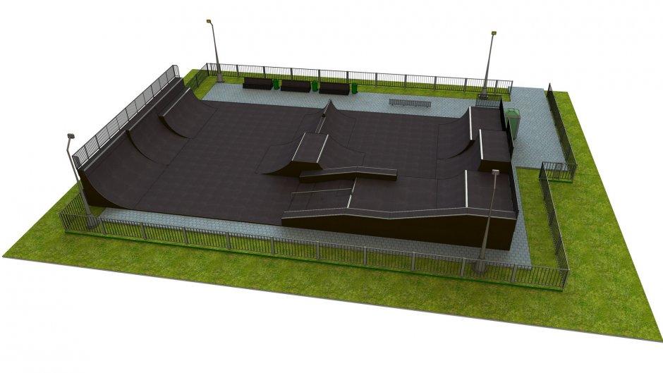 Base monolith skatepark H3.0xW18.0xL30.0m