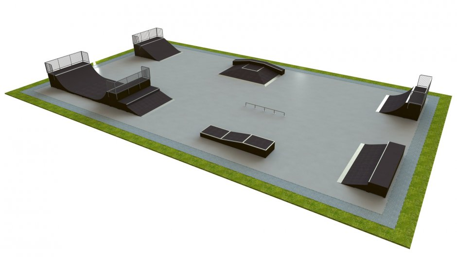 Base skatepark H1.5xW20.0xL35.0m