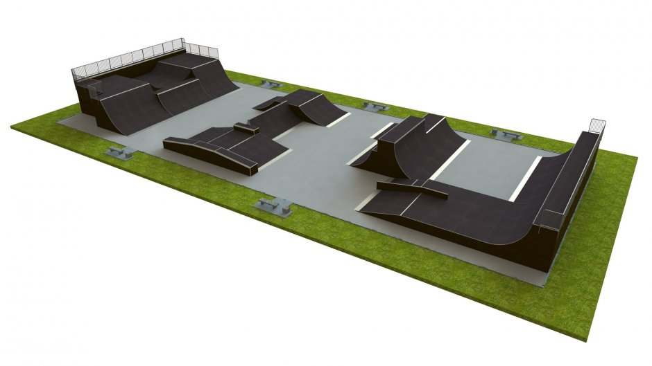 Base skatepark H3.5xW20.0xL47.0m