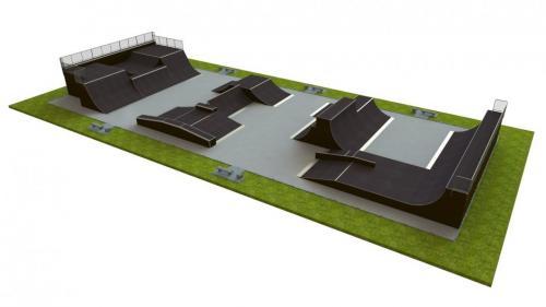 Base skatepark H3.5xW20.0xL47.0m