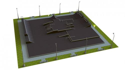 Base monolith skatepark H2.0xW30.0xL33.0m