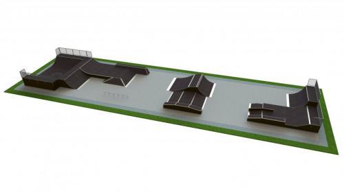Base skatepark H2.0xW12.0xL46.0m