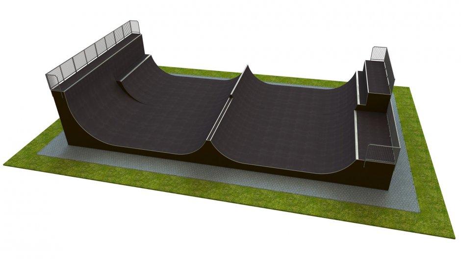 Base monolith skatepark H4.0xW12.0xL24.0m