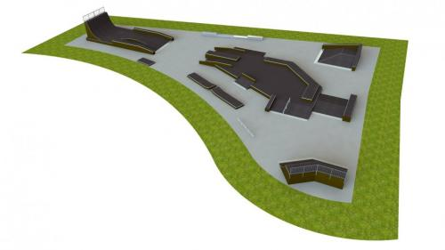 Base skatepark H3.5xW40.0xL55.0m