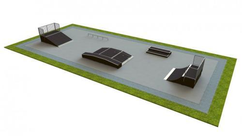 Base skatepark H1.0xW10.0xL25.0m