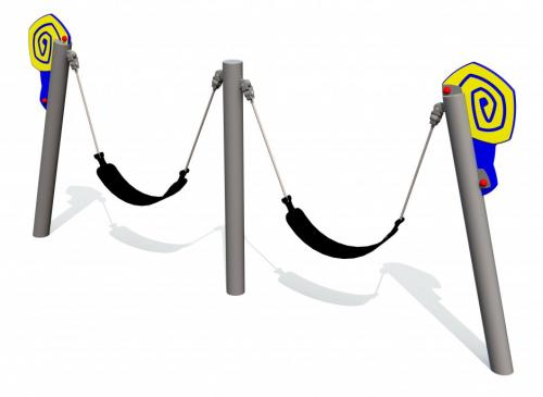 Snigelgungan dubbel med remsitsar