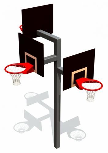 Basketkonstruktion med tre höjder