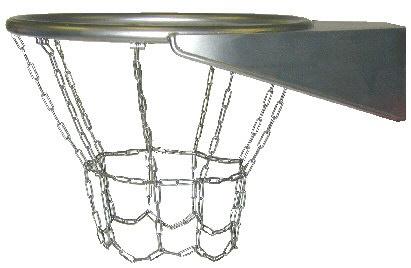 Urban basketkorg med nät i metall