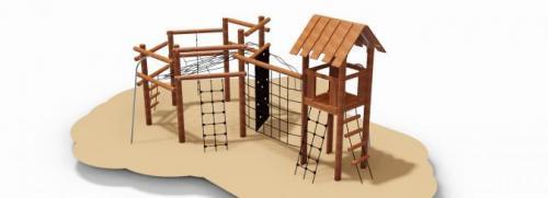 Kombinerat klättersystem i robinia