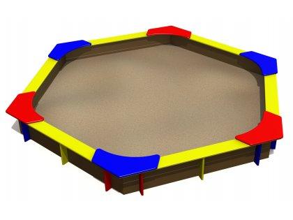 Sandlåda hexagonal