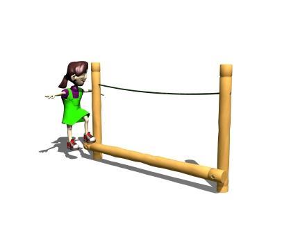 Balansbom med rep