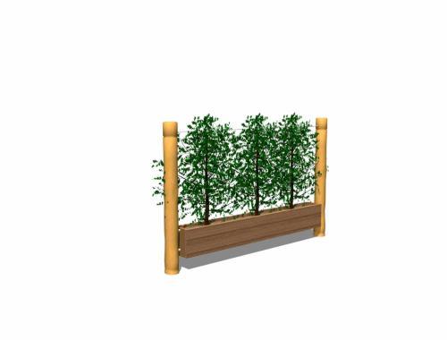 Planteringslåda inkl. vajer och krokar