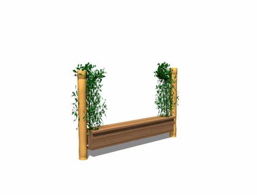 Planteringsbänk med förvaringslåda