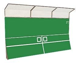 Tennisvägg för utomhusträning 3,0x1,0m