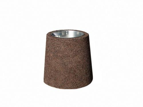 Konformad papperskorg i betong 20L