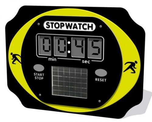 PlayTronic Solar Powered Stopwatch Panel