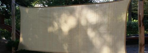 Solsegelvägg - Vindskydd