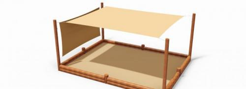 Sandlåda med solsgel 4.70x3.60 m