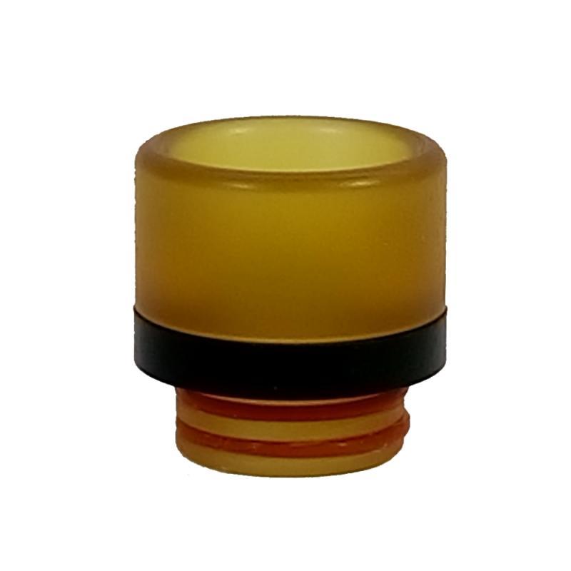 Cylinderformad Bärnstensfärgad med svart bård 810 - bigbore munstycke i pei-plast