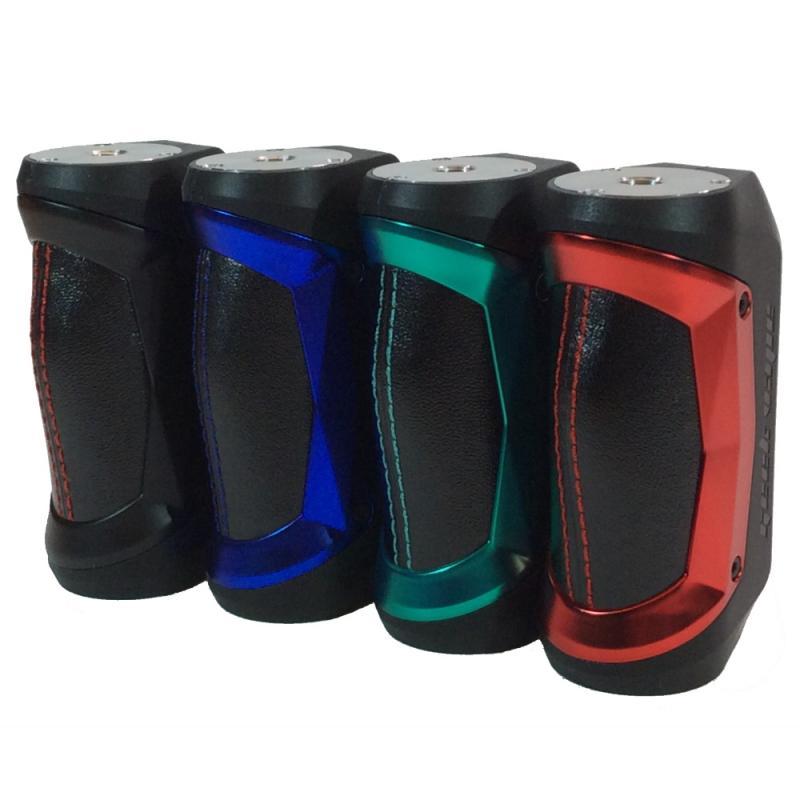 rad med Geekvape Aegis Mini 80W mod i fyra färger svart, blå, grön och röd