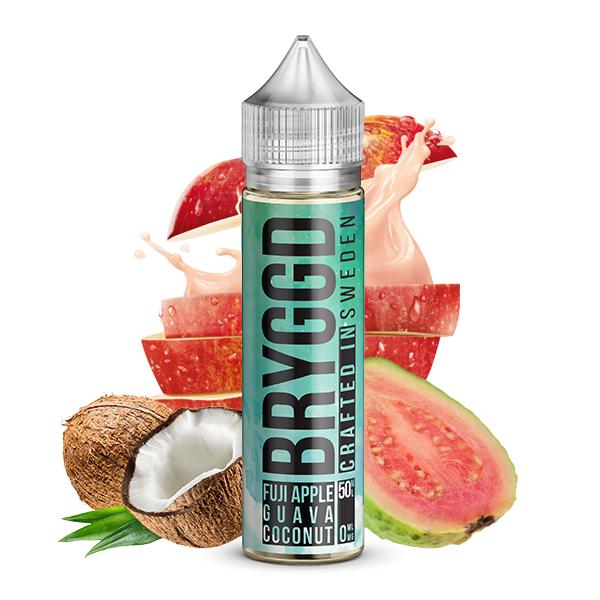 50ml shortfill med Bryggd e-juice smak Fuji Guava Coconut