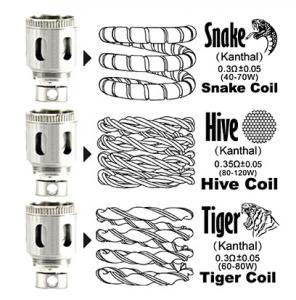 snake hive tiger coils arctic v8