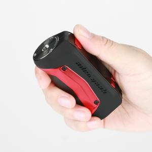 hand holding red Geekvape Aegis Mini 80W mod utan tank