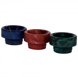 3 st driptip i resin passande alla tankar med 810-hål i blått, rött, grönt