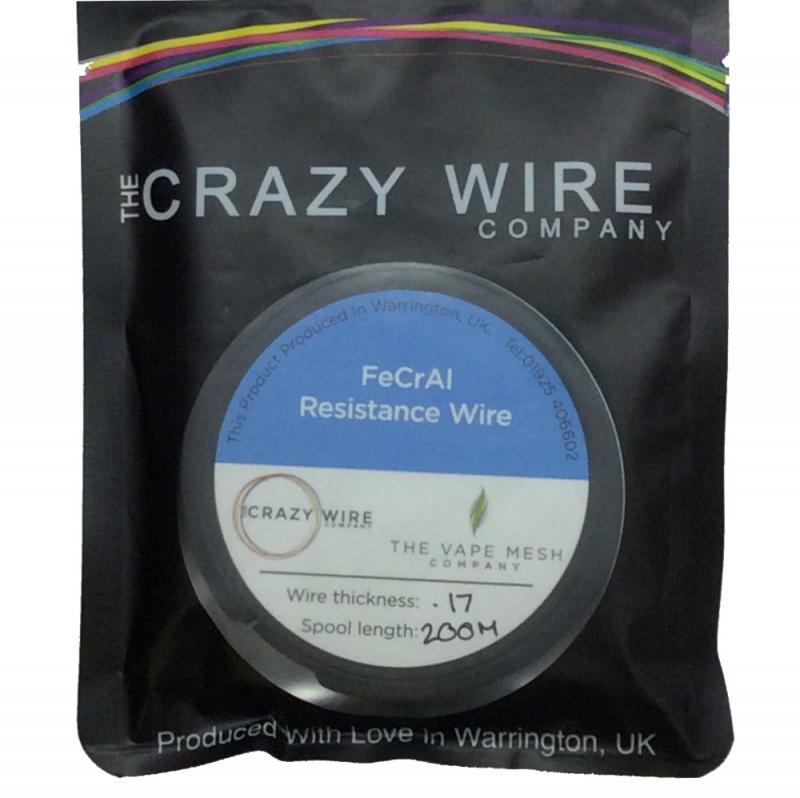 200m superfine kanthal fecral wire brand crazy wire i svart plastförpackning