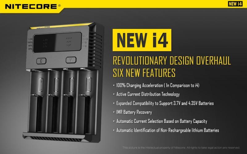 2016 Nitecore i4 nya funktioner