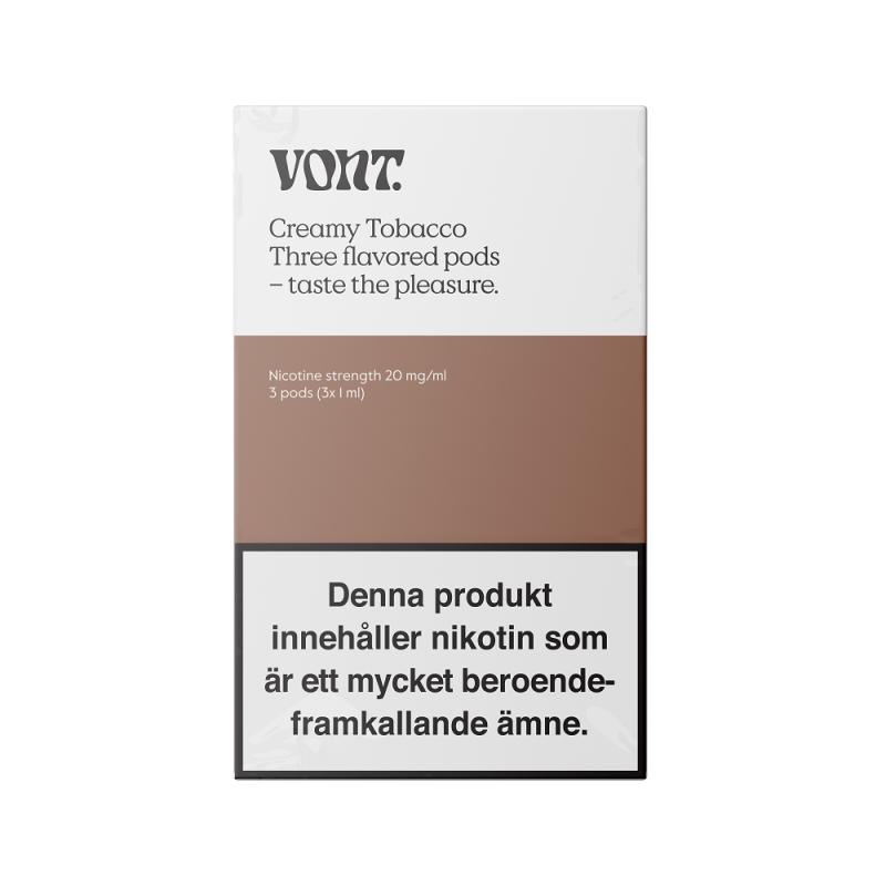 Vont Pod 3-pack 20mg (Creamy Tobacco)