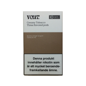 Vont Pod 3-pack 10mg (Creamy Tobacco)