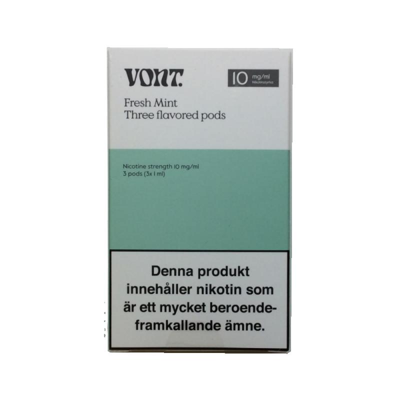 Vont Pod 3-pack 10mg (Fresh Mint)