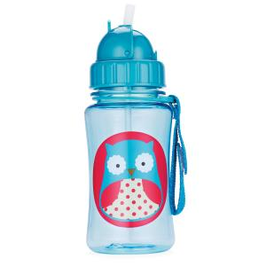 Skip Hop Bottle With Straw Zoo Owl