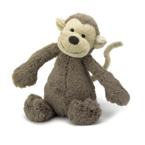Jellycat Gosedjur Bashful Apa Medium