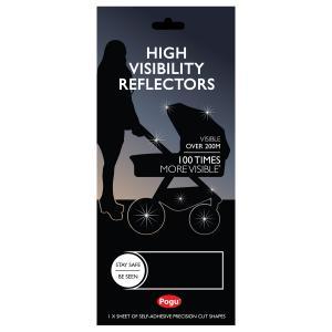 Pogu Reflexer för Barnvagn Svarta för Svart Chassi