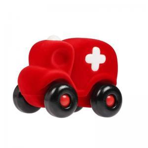 Leklyckan Rubbabu Naturlig Skumgummi Stor Ambulans Röd