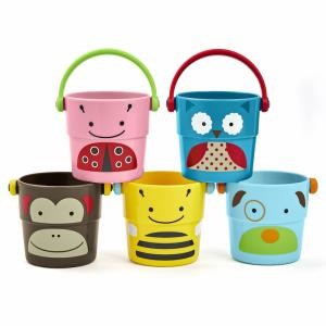 Skip Hop, Zoo Bath Toys, Stack & Pour Buckets